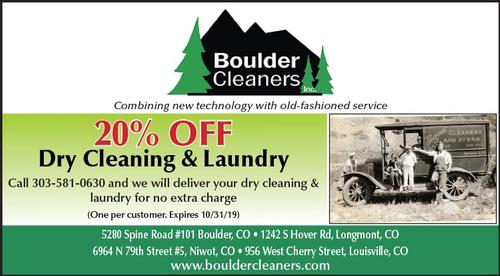 Coupon: Boulder Cleaners - 20% Off Dry Cleaning & Laundry