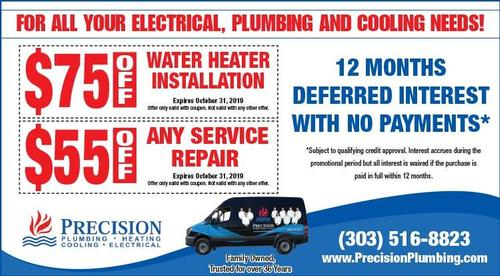 Coupon: Precision Heating - $55 Off Any Service Repair