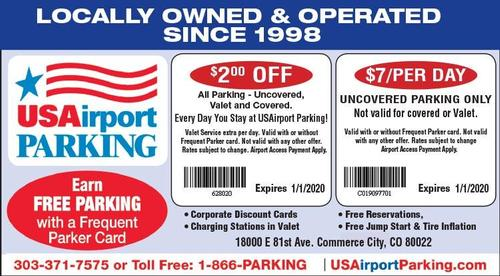 Coupon: USAirport Parking at DIA - $2 Off All Parking Per Day