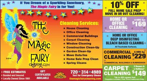 Coupon: The Magic Fairy - 10% Off Move-in or Move-Out Cleaning