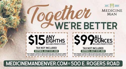 Coupon: Medicine Man Longmont - $15 Any Eighths