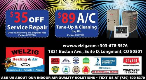 Coupon: Welzig Heating and Air - $89 Air Conditioning Tune Up & Cleaning