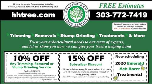Coupon: Helping Hand Tree Service LLC - 10% Off Trimming, Removal, or Stump Grinding