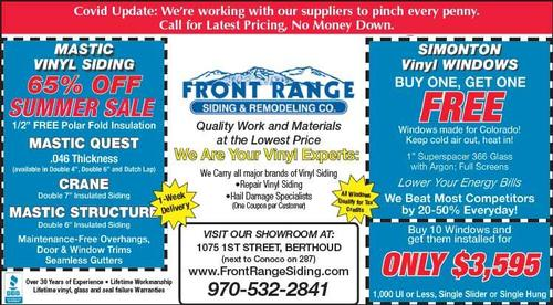 Coupon: Front Range Siding & Remodeling - 65% Off Summer Sale