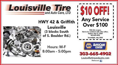 Coupon: Louisville Tire & Auto - $10 Off Any $100+ Service