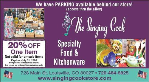 Coupon: The Singing Cook - 20% Off One Item