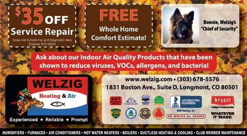 Coupon: Welzig Heating and Air - $35 Off Service Repair