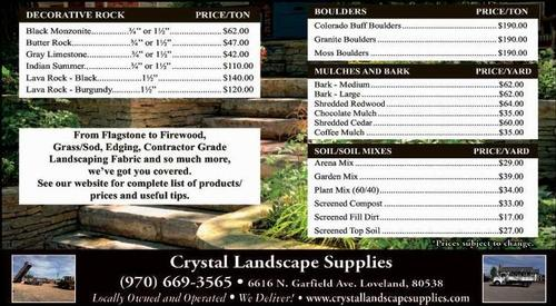 Coupon: Crystal Landscape - From Flagstone to Firewood