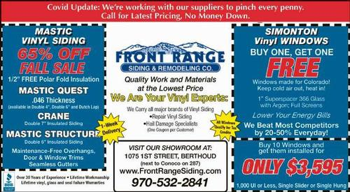 Coupon: Front Range Siding & Remodeling - 65% Off Fall Sale