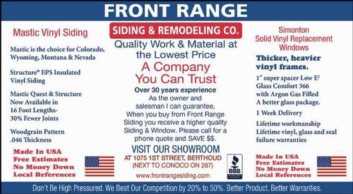 Coupon: Front Range Siding & Remodeling - A Company You Can Trust
