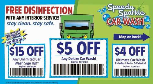 Coupon: Speedy Sparkle Car Wash - $4 Off Ultimate Car Wash