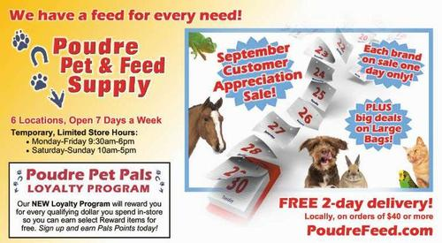 Coupon: Poudre Pet & Feed Supply - We Have a Feed for Every Need