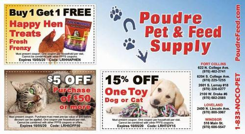 Coupon: Poudre Pet & Feed Supply - Buy One Get One Free