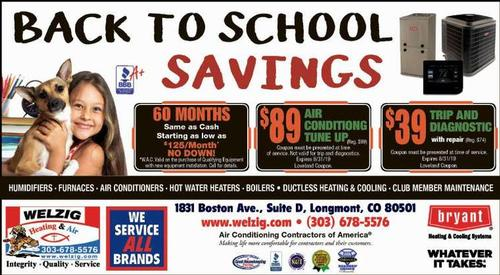 Coupon: Welzig Heating and Air - 60 Months Same as Cash