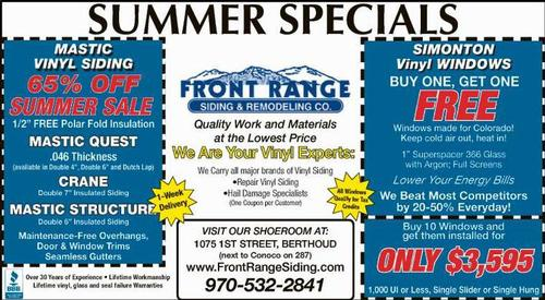 Coupon: Front Range Siding & Remodeling - We are your Vinyl Experts