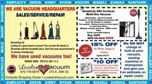 Coupon: Loveland Vacuum - $10 Off Full Service