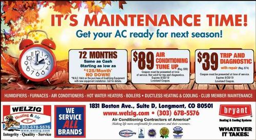 Coupon: Welzig Heating and Air - 72 Months Same as Cash