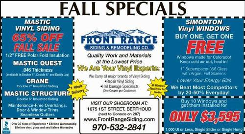 Coupon: Front Range Siding & Remodeling - Simonton Windows - Buy One, Get One