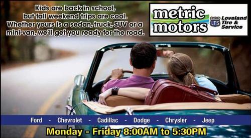 Coupon: Metric Motors - Monday-Friday 8am-5:30pm