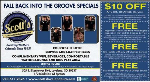Coupon: Scott's Automotive & Service Centers - $10 Any Oil Change Service