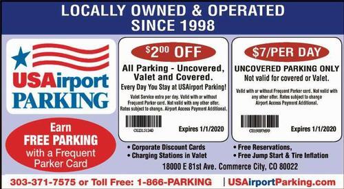 Coupon: USAirport Parking at DIA - $2 Off All Parking