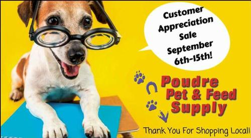 Coupon: Poudre Pet & Feed Supply (RH) - Customer Appreciation Sale