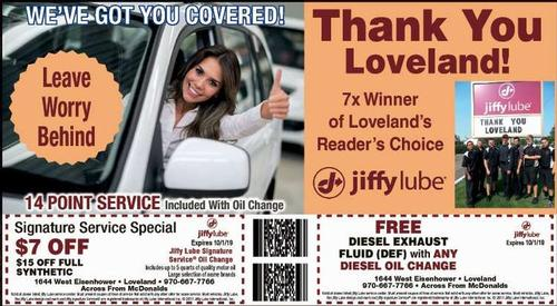 Coupon: Jiffy Lube - Loveland - Free Diesel Exhaust Fluiid