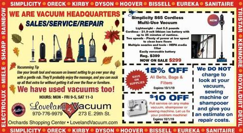 Coupon: Loveland Vacuum - $10 Off Full Service