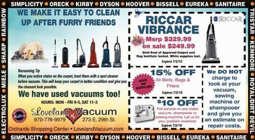 Coupon: Loveland Vacuum - RICCAR Vibrance $249.99