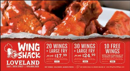 Coupon: Wing Shack - 10 Free Wings