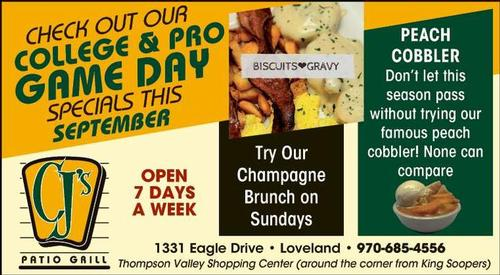 Coupon: CJ's Patio Grill - Champagne Brunch on Sundays