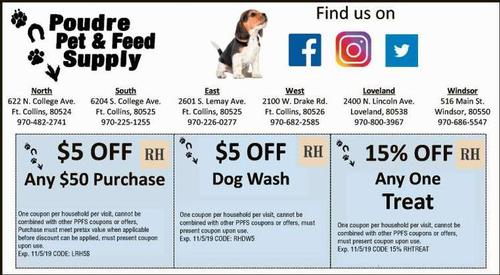 Coupon: Poudre Pet & Feed Supply (RH) - $5 Off Dog Wash