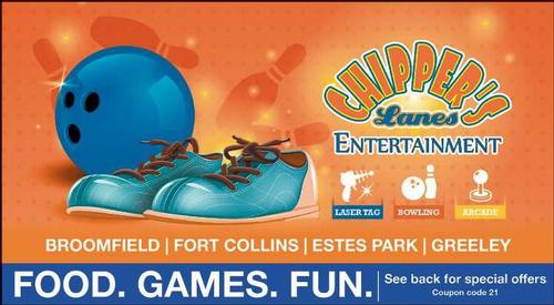 Coupon: Chippers Lanes - Food. Games. Fun.