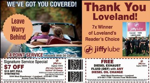 Coupon: Jiffy Lube - Loveland - Signature Service $7