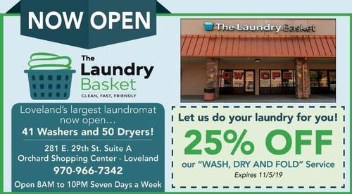Coupon: The Laundry Basket - 25% Off Wash, Dry and Fold Service