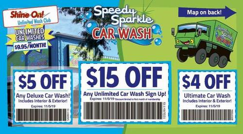 Coupon: Speedy Sparkle Car Wash - $5 Off Any Deluxe Car Wash