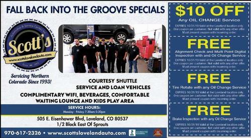 Coupon: Scott's Automotive & Service Centers - $10 Off Any Oil Change